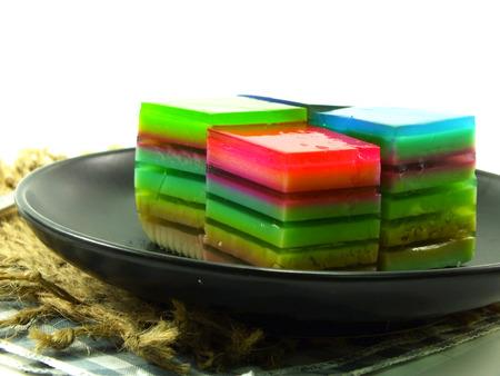 layered: multi layered fruit jelly