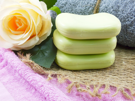 natural soap: bar of natural soap for cleaning and healthy Stock Photo