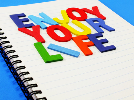 concep: enjoy your life concep made from colorful alphabet