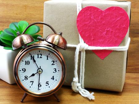 gift box with alarm clock