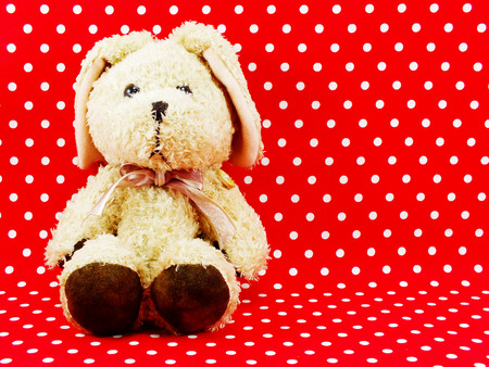 space for copy: rabbit doll with space for copy background