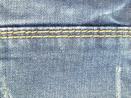 seams: blue jeans texture with seams background Stock Photo