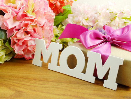 mother 's day: beautiful bouquet of flowers and gift for mother s day