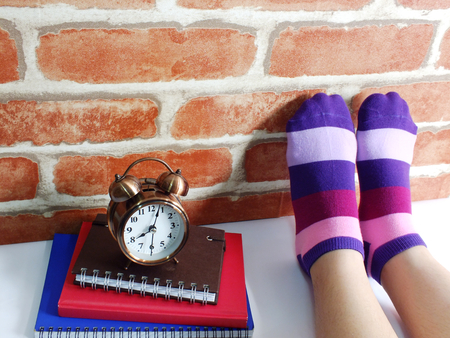 woman feet relaxing and comfort holiday concept