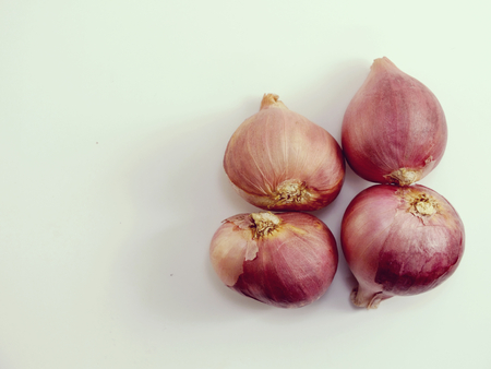 red onion bulb on white background Stock Photo
