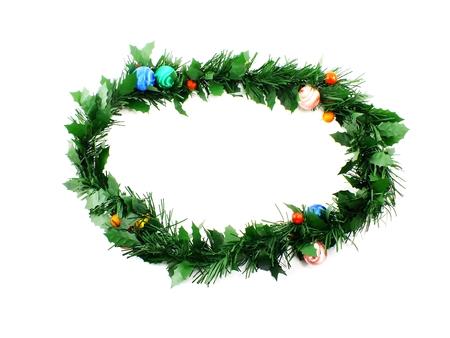 Guirnalda De Hoja Perenne De Decoración De Navidad Tradicional Verde ...