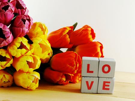 Valentine s day background alphabet spell word lovevalentines day background alphabet spell word love