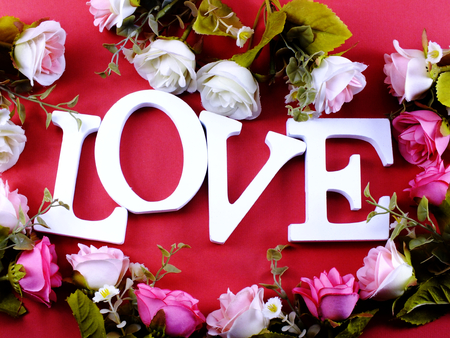 valentines day background alphabet word love letter