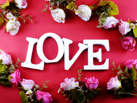 valentines day background alphabet word love letter