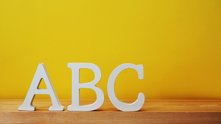 abc alphabet letter with space background