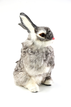 rabbit doll isolated on white background 写真素材