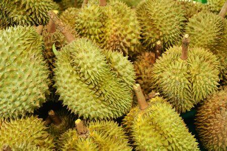 Durian Fruit Background Stock Photo
