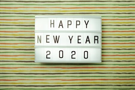 Happy New Year 2021 light box with space copy