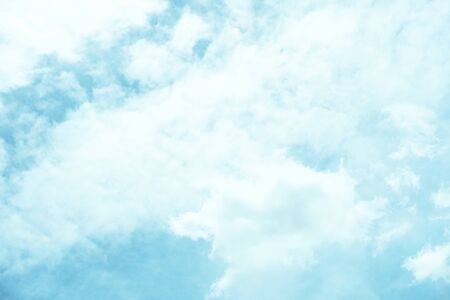 Blue Sky and white clouds Moving abstract natural background