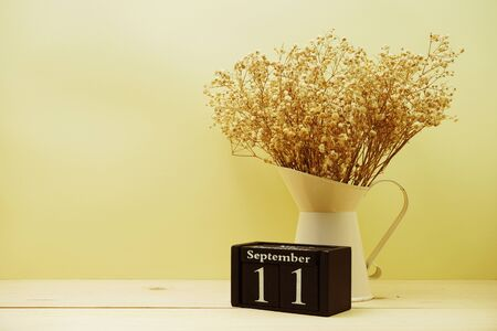 September 11th calendar wooden cube