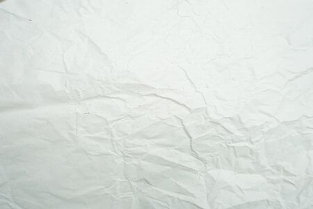 White crumpled paper empty background