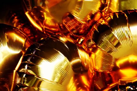 Close up Foil Balloons Abstract background