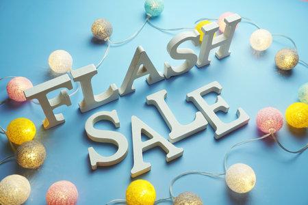 Flash Sale alphabet letter with cotton ball LED decoration on blue background