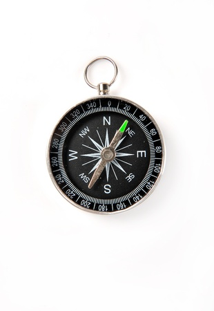 azimuth: compass on white background