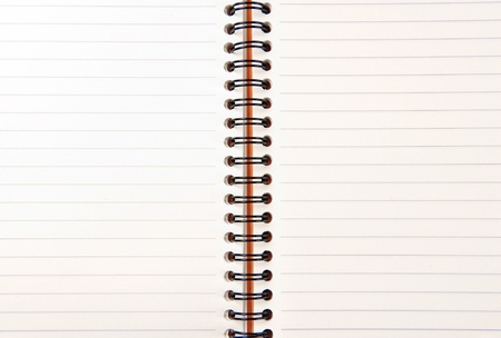 isolated notebook on white Stock Photo - 10713541