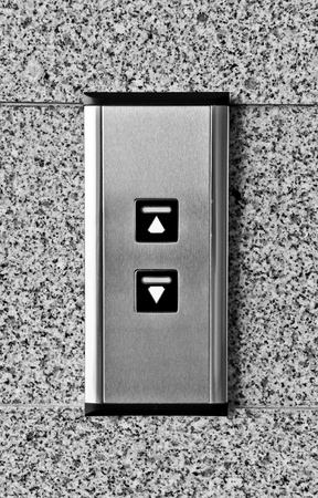 Elevator Button Stock Photo
