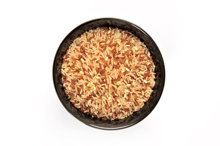 brown rice on bowl