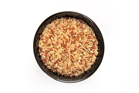 arroz chino: el arroz en un taz�n Foto de archivo