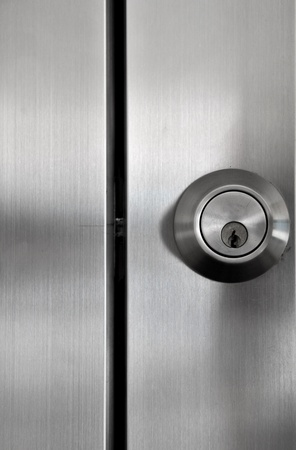 door knob: keys (lock) Stock Photo