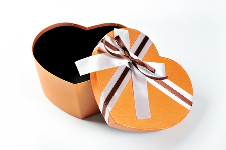 christmasy: gift box isolated on white Stock Photo
