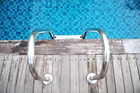 lido: close up of a swimming pool in the summer Stock Photo