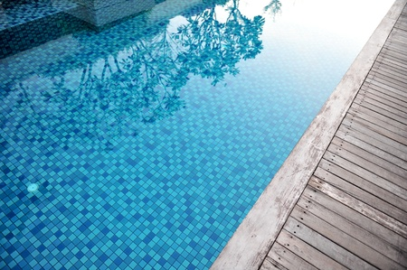 close up of a swimming pool in the summer Banco de Imagens