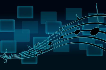 pentagrama musical: notas musicales personal Foto de archivo