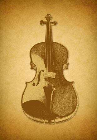 old violin picture photo