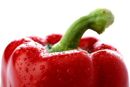 Red pepper isolated on white photo