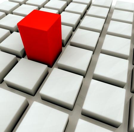 One red box photo