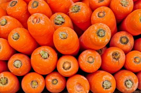 Close-up of fresh carrots background photo
