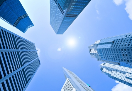 limit: corporate buildings in perspective  Stock Photo