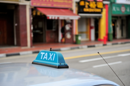 Taxi waiting for clients Stock Photo - 15141920
