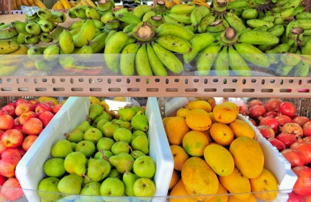 variety of fresh Fruit in market closeup background Stock Photo - 15141942