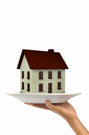 House on Plate Stock Photo - 15245157