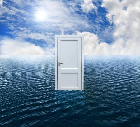 Door on the ocean Stock Photo - 15245162
