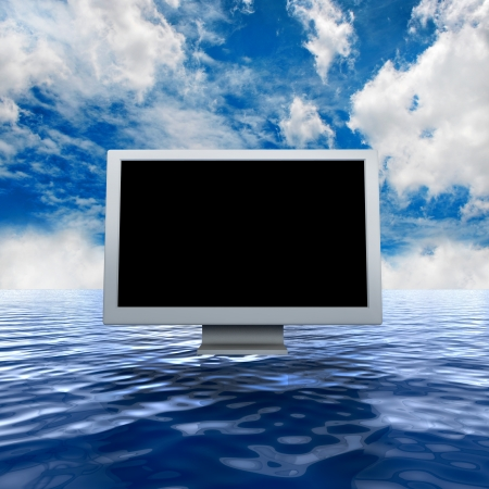monitor in sea Stock Photo - 15245236