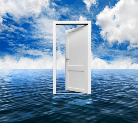 Door on the ocean photo