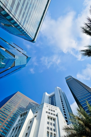 corporate buildings: corporate buildings in perspective  Stock Photo