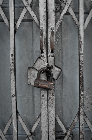 the old door lock photo