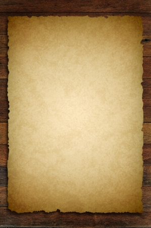 old paper on brown wood texture with natural patterns Stock Photo