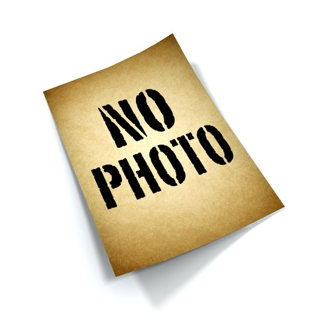 no photo: no photo sign vintage style  Stock Photo