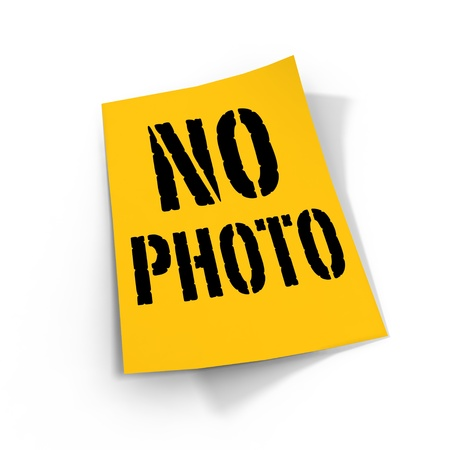 no photo sign vintage style  Banco de Imagens