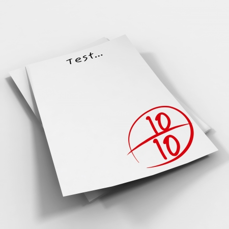 Test scores  Stock Photo