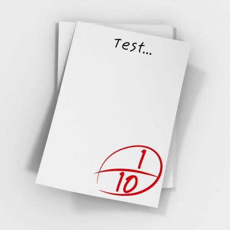 scores: Test scores  Stock Photo